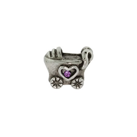 Baby Girl Baby Carriage Bead | Pandora Compatible Bead