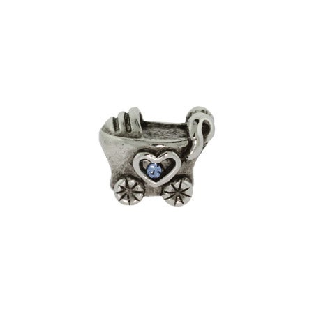 Baby Boy Baby Carriage Bead