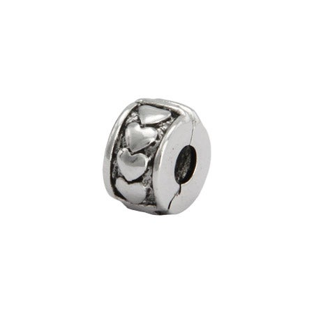Ring of Hearts Clip-on Bead