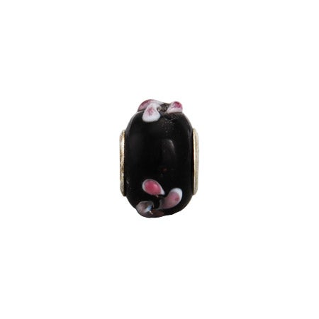 Midnight Pink Flower Oriana Bead