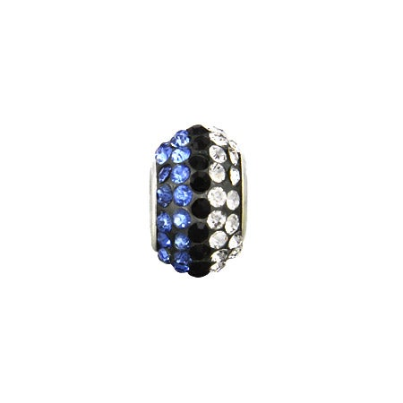 Diamond Blue Austrian Crystal Oriana Bead