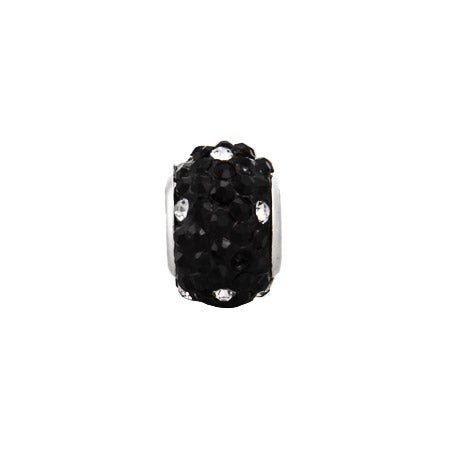 Black and White Crystal Bead
