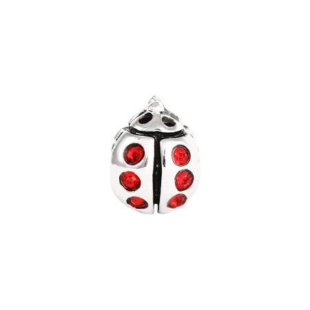 Ladybug Red CZ Bead