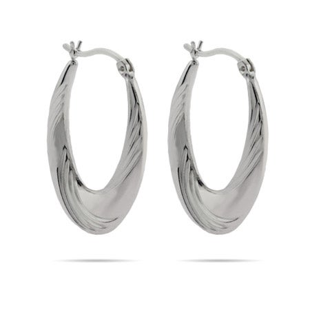 Soft Swirl 1.25 Inch Oval Hoops | Eve's Addiction®