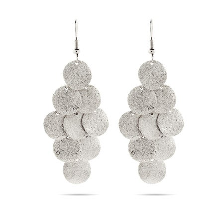 Silvertone Sliding Disc Earrings | Eve's Addiction®