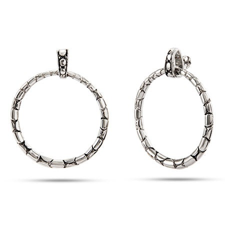 Designer Inspired Cobblestone Hoop Style Earrings | Eve's Addiction®