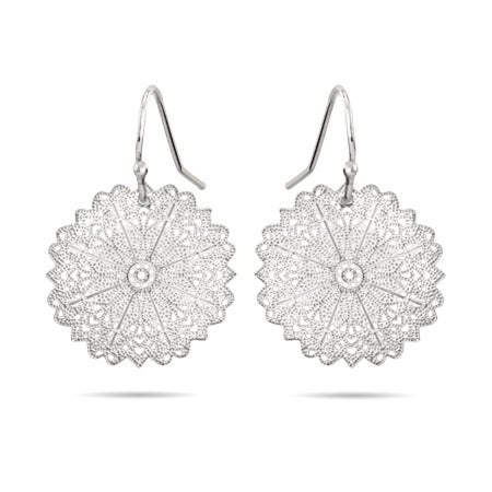 Filigree Snowflake Dangle Earrings | Eve's Addiction®