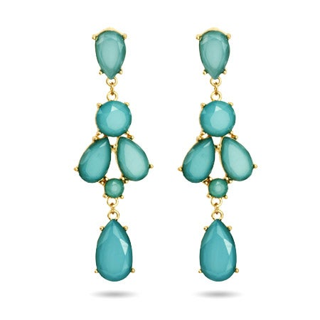 Peardrop Teal Chandelier Earrings | Eve's Addiction®