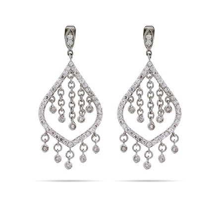 Dazzling CZ Chandelier Earrings | Eve's Addiction®