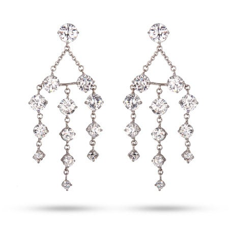 Graduated Brilliant Cut CZ Chandelier Earrings | Eve's Addiction®
