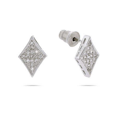 Petite Sparkling Micropave Diamond CZ Earrings | Eve's Addiction®