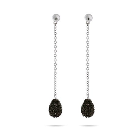 Pave Black CZ Teardrop Dangle Earrings | Eve's Addiction®