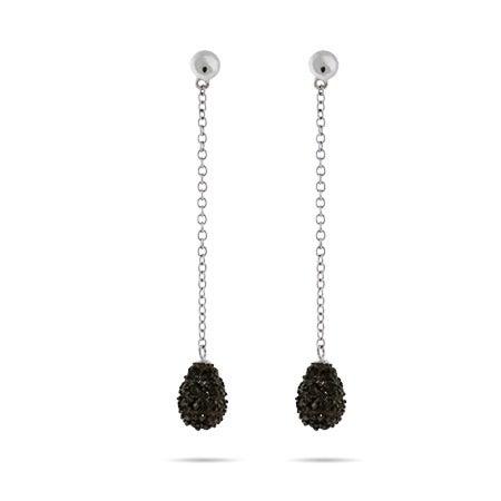 Pave Black CZ Teardrop Dangle Earrings | Eve's Addiction®