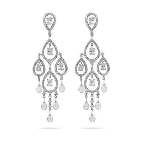 Dazzling Celebrity Style Pear Drop Chandelier Earrings | Eve's Addiction®