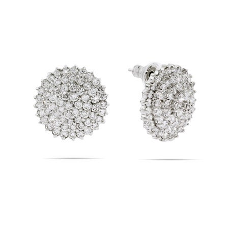 Spiral CZ Cocktail Earrings | Eves Addiction