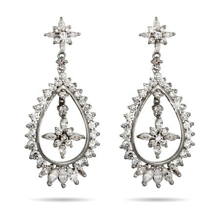 Red Carpet Style Teardrop CZ Earrings | Eve's Addiction®