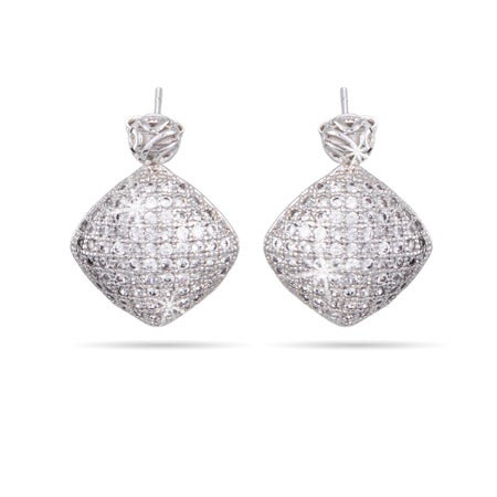 Diamond Micropave CZ Drop Earrings