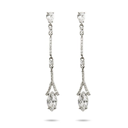 Thin Marquise Drop CZ Earrings | Eve's Addiction®