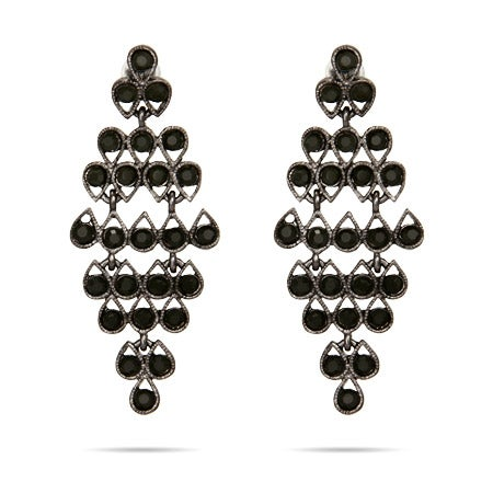 Classic Onyx CZ Chandelier Earrings | Eve's Addiction®