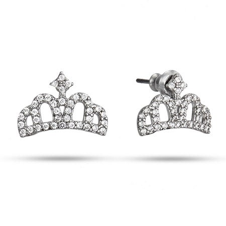 Tiara CZ Stud Earrings | Eve's Addiction®
