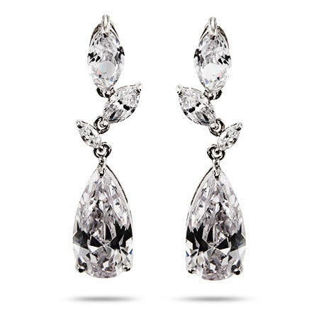 Razzle Dazzle Clear CZ Cocktail Earrings | Eve's Addiction®