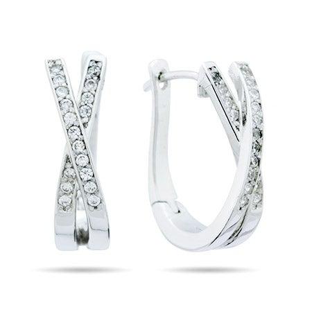 X Style CZ Sparkling Huggie Earrings | Eve's Addiction®