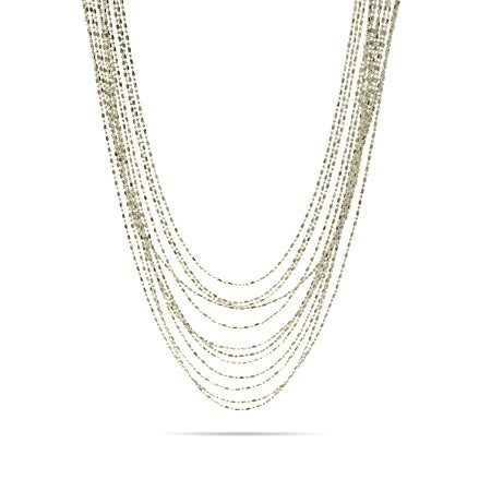 Multi Strand Beaded Layer Necklace