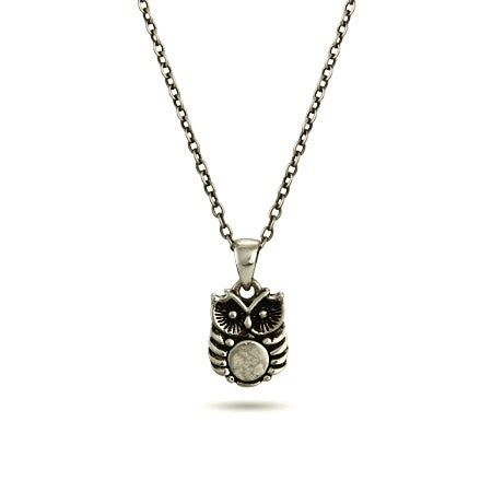 Petite Hoot Owl Charm Necklace