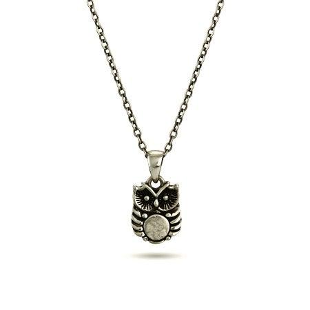Petite Hoot Owl Charm Necklace