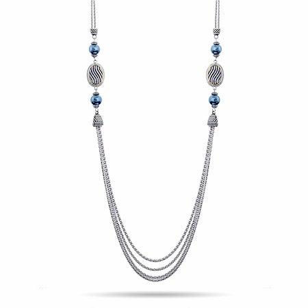 Gray Pearl Multi Strand Necklace   Eve's Addiction