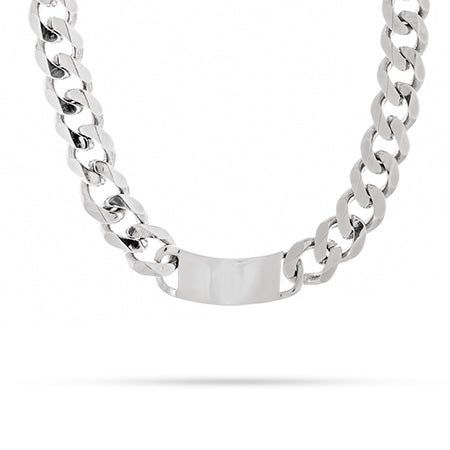 Engravable Bold Curb Link ID Necklace