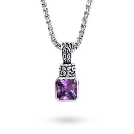 Amethyst Pendant on Bali Chain | Eve's Addiction®