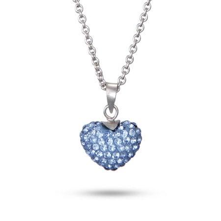 Dazzling Blue Swarovski Crystal Heart Pendant