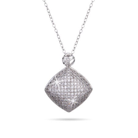 Micropave Diamond CZ Shimmering Necklace