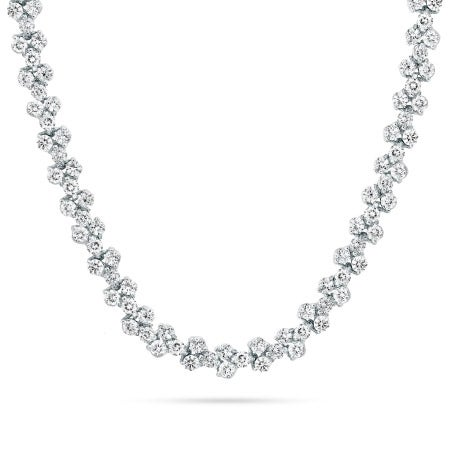 Sparkling Brilliant Cut CZ Tennis Necklace