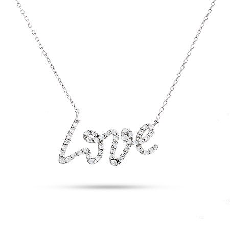 Designer Style Love CZ Necklace | Eve's Addiction