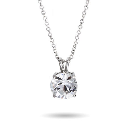7 Carat Brilliant Cut Solitaire Swarovski Crystal Necklace