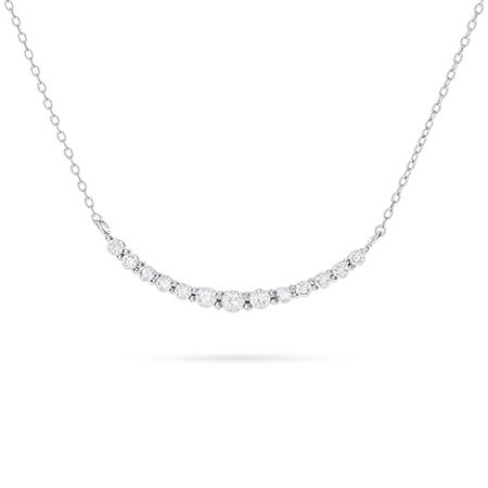Graduated Curve Cubic Zirconia Necklace