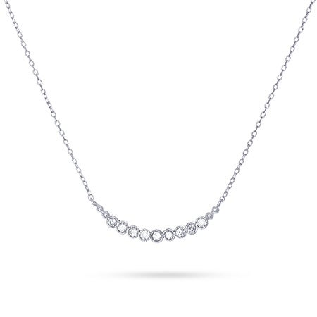 Milgrain Curved CZ Necklace
