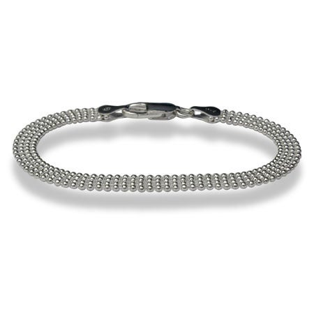 Sterling Silver Bracelet with Tiny Beading | Eve's Addiction®