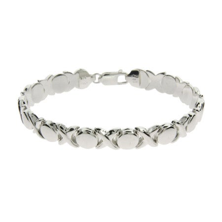 Sterling Silver Hugs and Kisses Bracelet