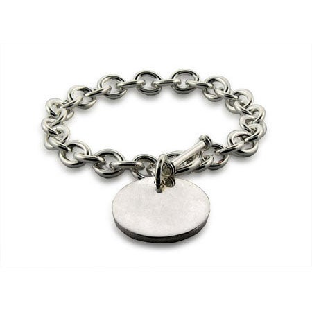 Sterling Heavy Gauge Round Tag Bracelet | Eve's Addiction®
