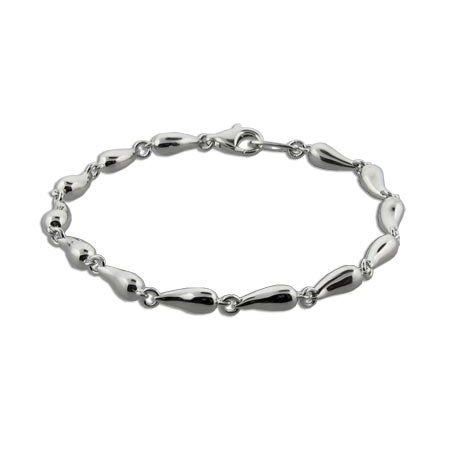 Continuous Teardrops Sterling Silver Bracelet | Eve's Addiction®