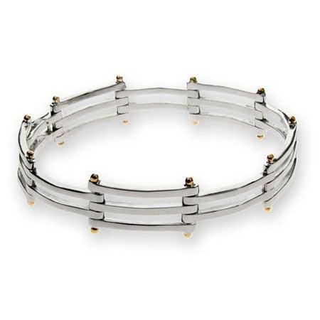 Designer Style Gatelink Bracelet in Sterling Silver