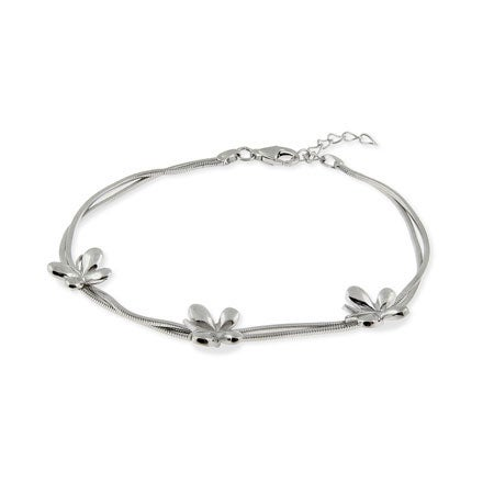 Sterling Silver Butterfly Bracelet | Eve's Addiction®