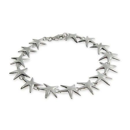 Sterling Silver Happy Starfish Bracelet | Eve's Addiction®