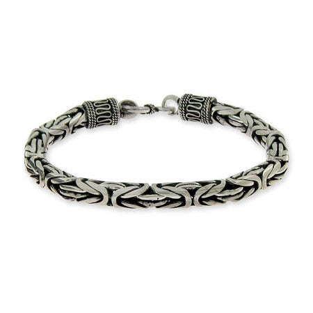 Mens Sterling Silver Bali Bracelet | Eve's Addiction®