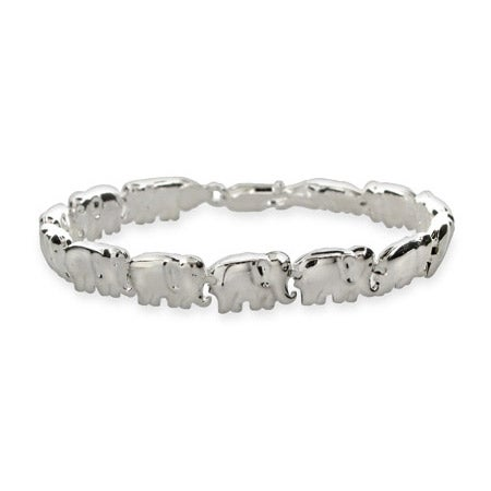 Sterling Silver African Elephant Parade Bracelet | Eve's Addiction®