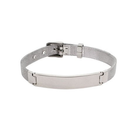Stainless Steel Mesh ID Buckle Bracelet | Eve's Addiction®