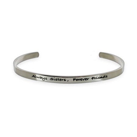 Always Sisters Forever Friends Stainless Steel Bracelet | Eve's Addiction®